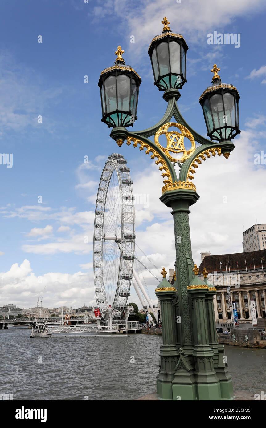 The London Eye from Westminster Bridge, London, England, United Kingdom, Europe Stock Photo