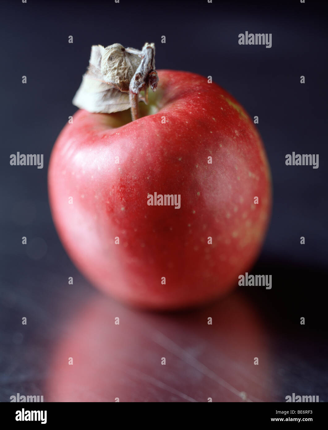 Close up of wholesome, nutritious apple - Stock Image