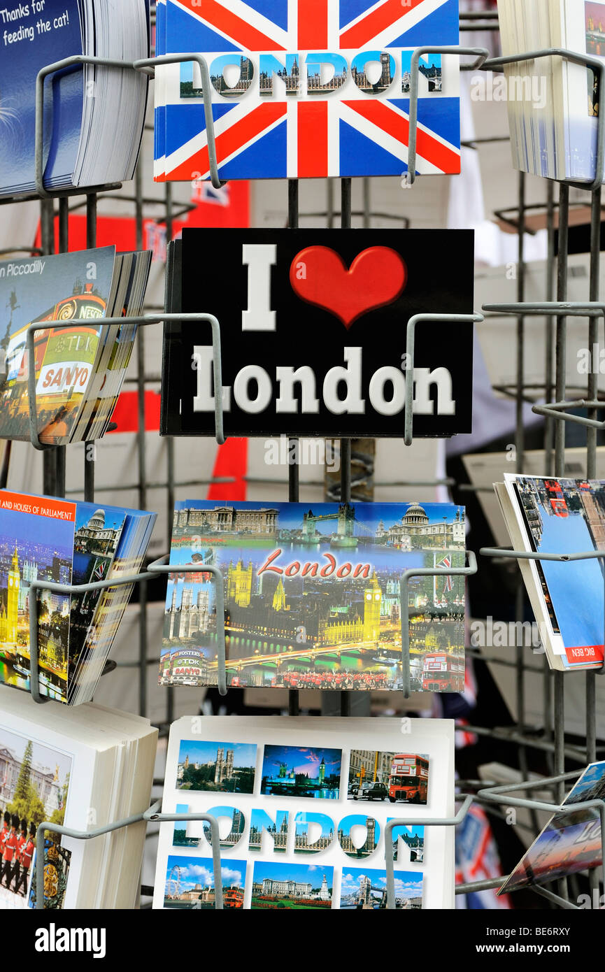 Postcards and greeting cards of London, England, United Kingdom, Europe Stock Photo