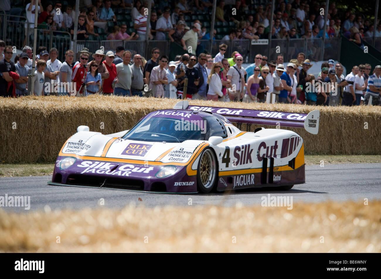Silk Cut Jaguar XJR-8/9 at Goodwood Festival of Speed - Stock Image