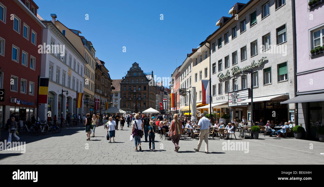 Tourists in the Marktstrasse street, Konstanz, Lake Constance, Baden-Wuerttemberg, Germany, Europe Stock Photo