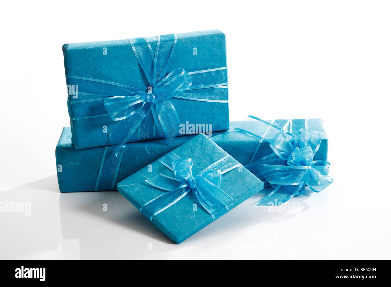 Presents with ribbons - Stock Image