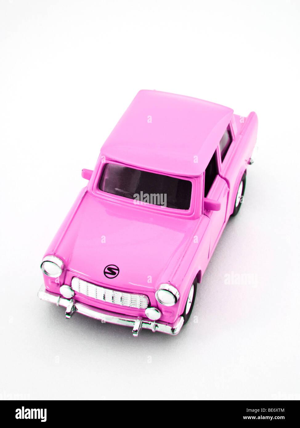 Trabant, miniature, pink Stock Photo