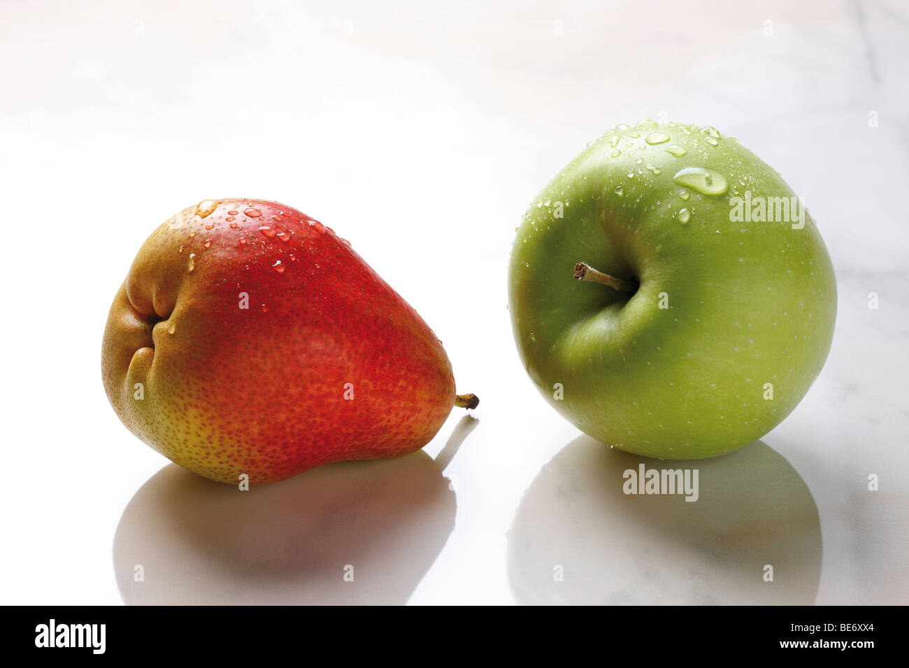 Pear and apple Stock Photo