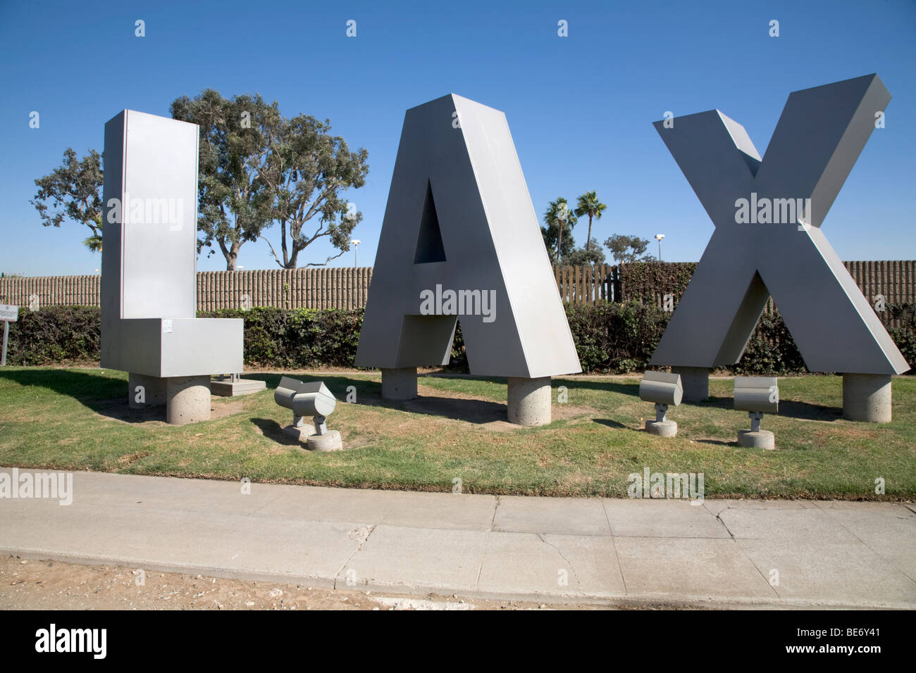 LAX Airport Sign Los Angeles - Stock Image