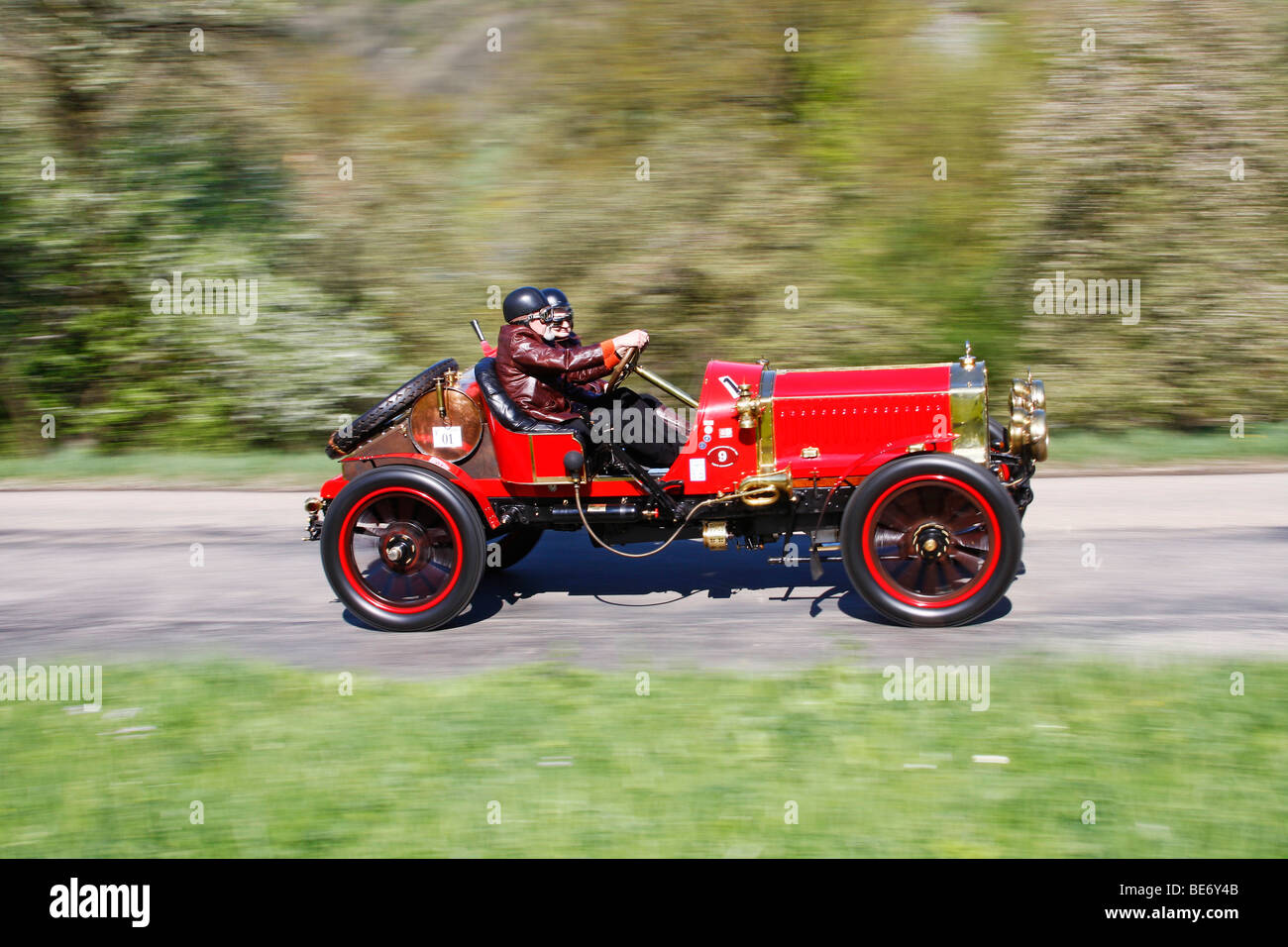 De Dion Bouton GP-car, built in 1908, rally Langenburg Historic 2009, Langenburg, Baden-Wuerttemberg, Germany, Europe - Stock Image