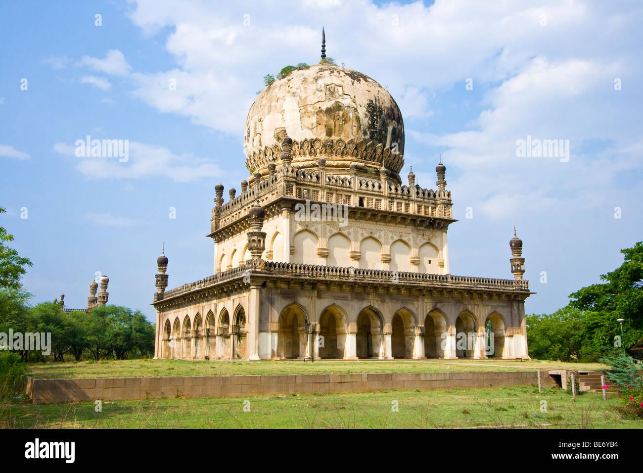Sultan Muhammad Qutb Shah Qutb Shahi Tomb in Golconda in Hyderabad India - Stock Image