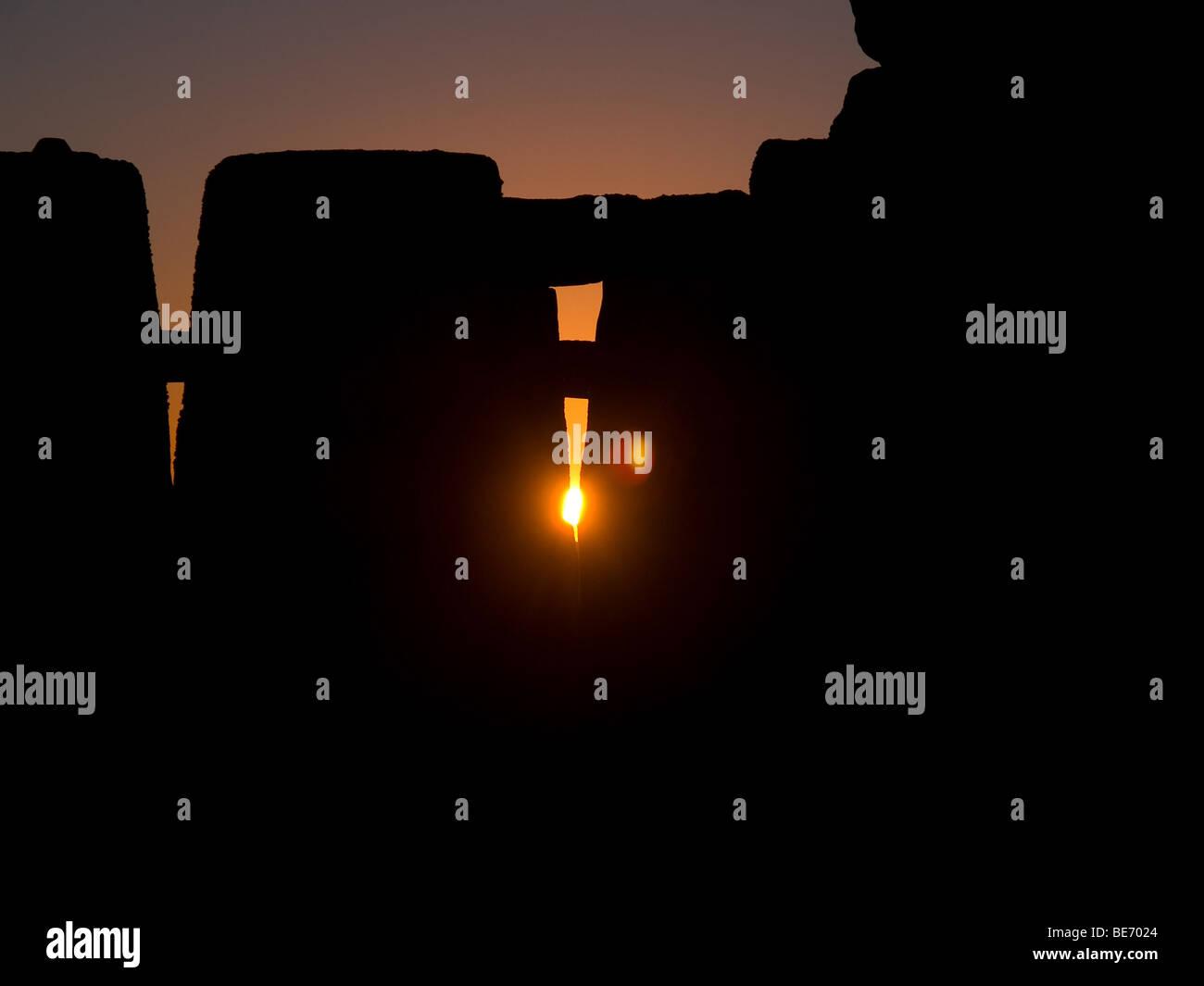 Sunrise at Stonehenge Stock Photo