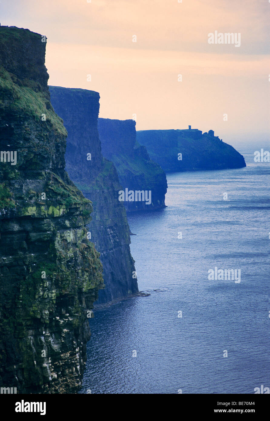 Republic of Ireland, County Clare, Cliffs of Moher - Stock Image