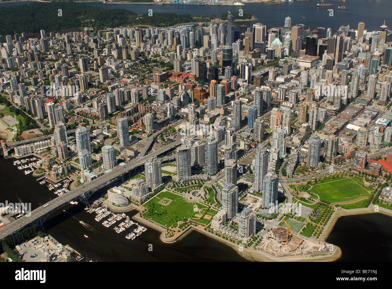 Aerial picture of Vancouver, British Columbia, Canada - Stock Image