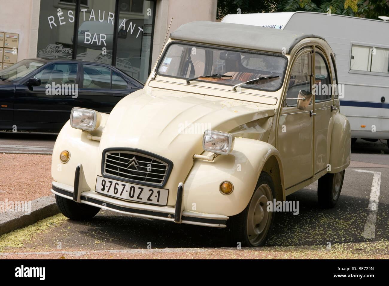 classic citroen 2cv vintage french car stock photos classic citroen 2cv vintage french car. Black Bedroom Furniture Sets. Home Design Ideas