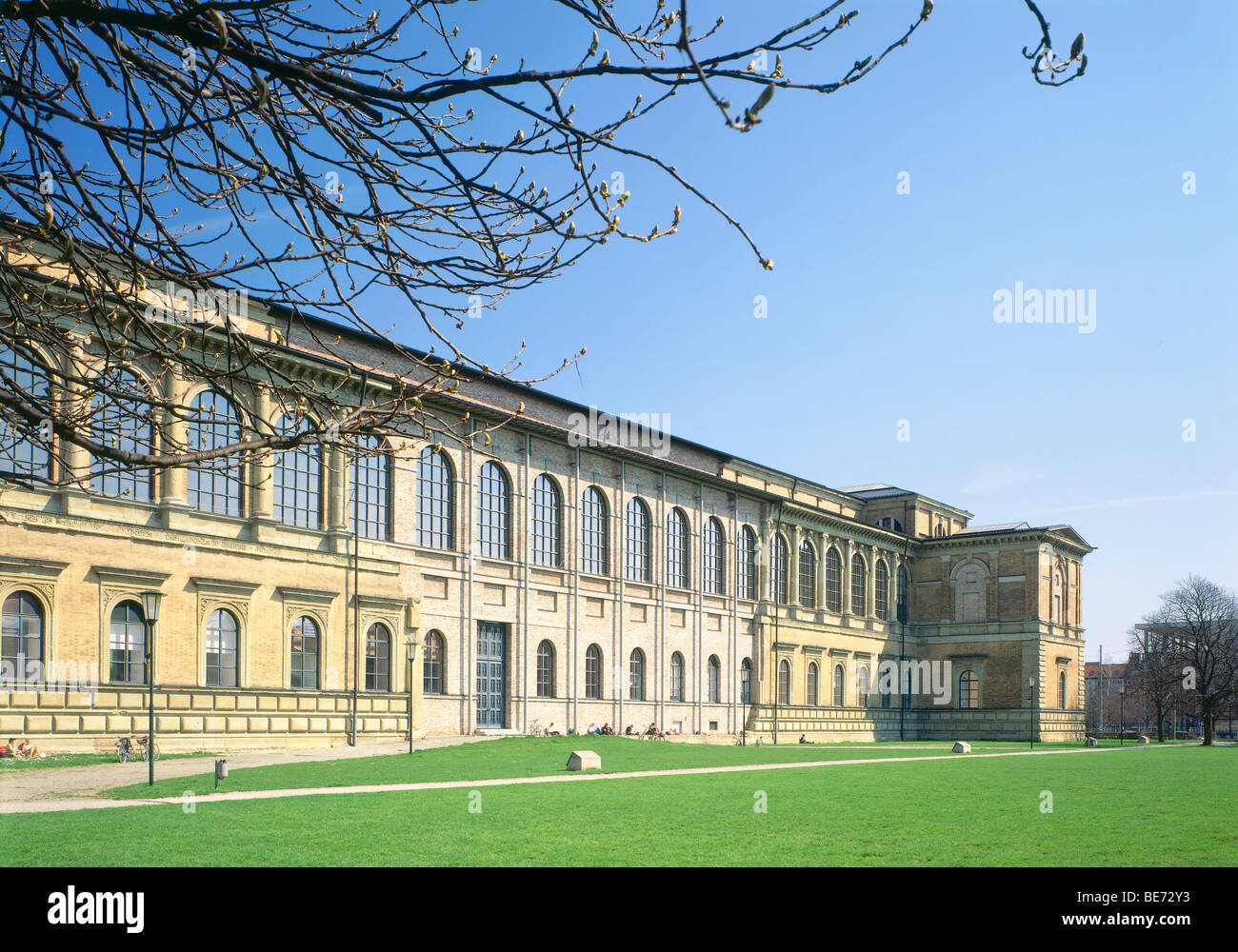 Alte Pinakothek, built 1826 to 1836 by L. von Klenze, Munich, Bavaria, Germany, Europe - Stock Image