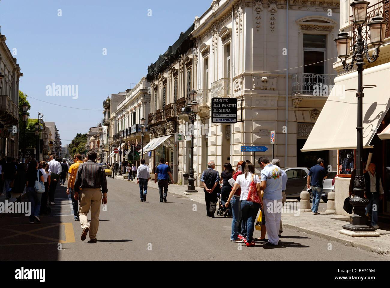 Corso Garibaldi, Reggio di Calabria, Calabria, Italy, Europe Stock Photo