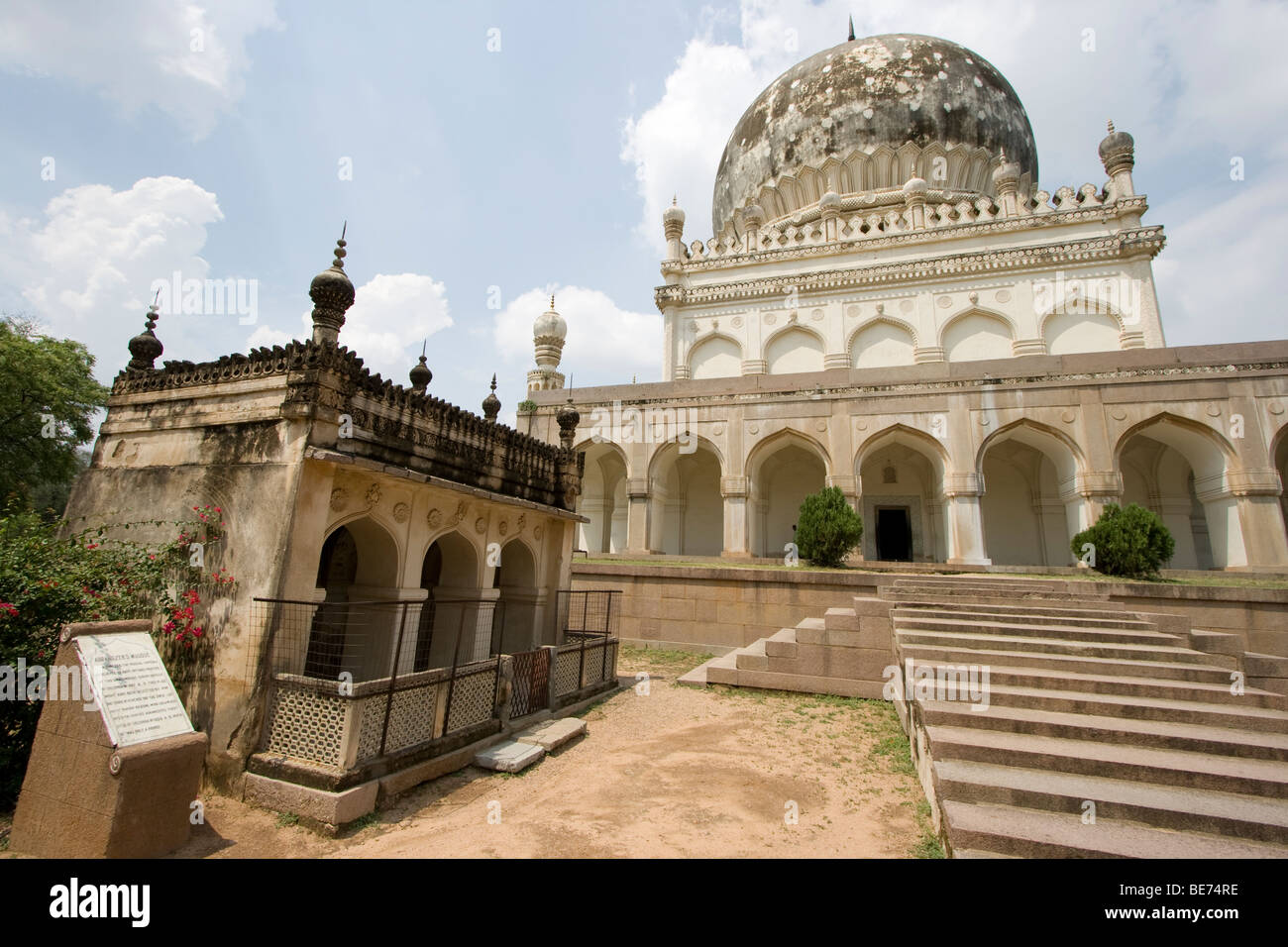 Hayath Baksh Begum Tomb at the Qutb Shahi Tombs in Golconda in Hyderabad India - Stock Image