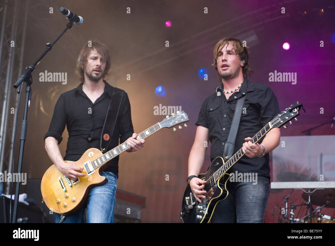 Swiss rock band Vivian, live at the Lucerne Festival in Lucerne, Switzerland - Stock Image