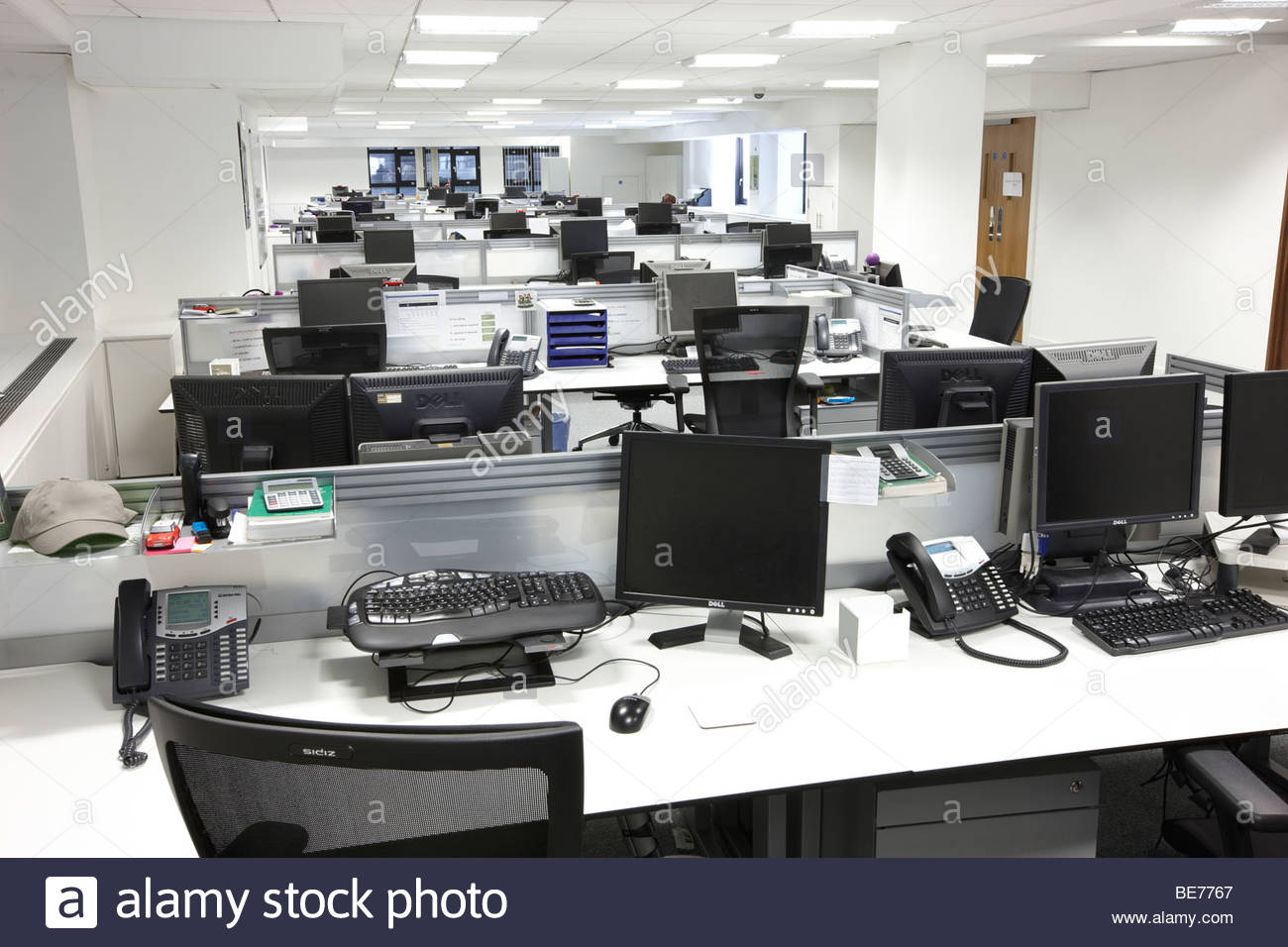 office desks city london - Stock Image
