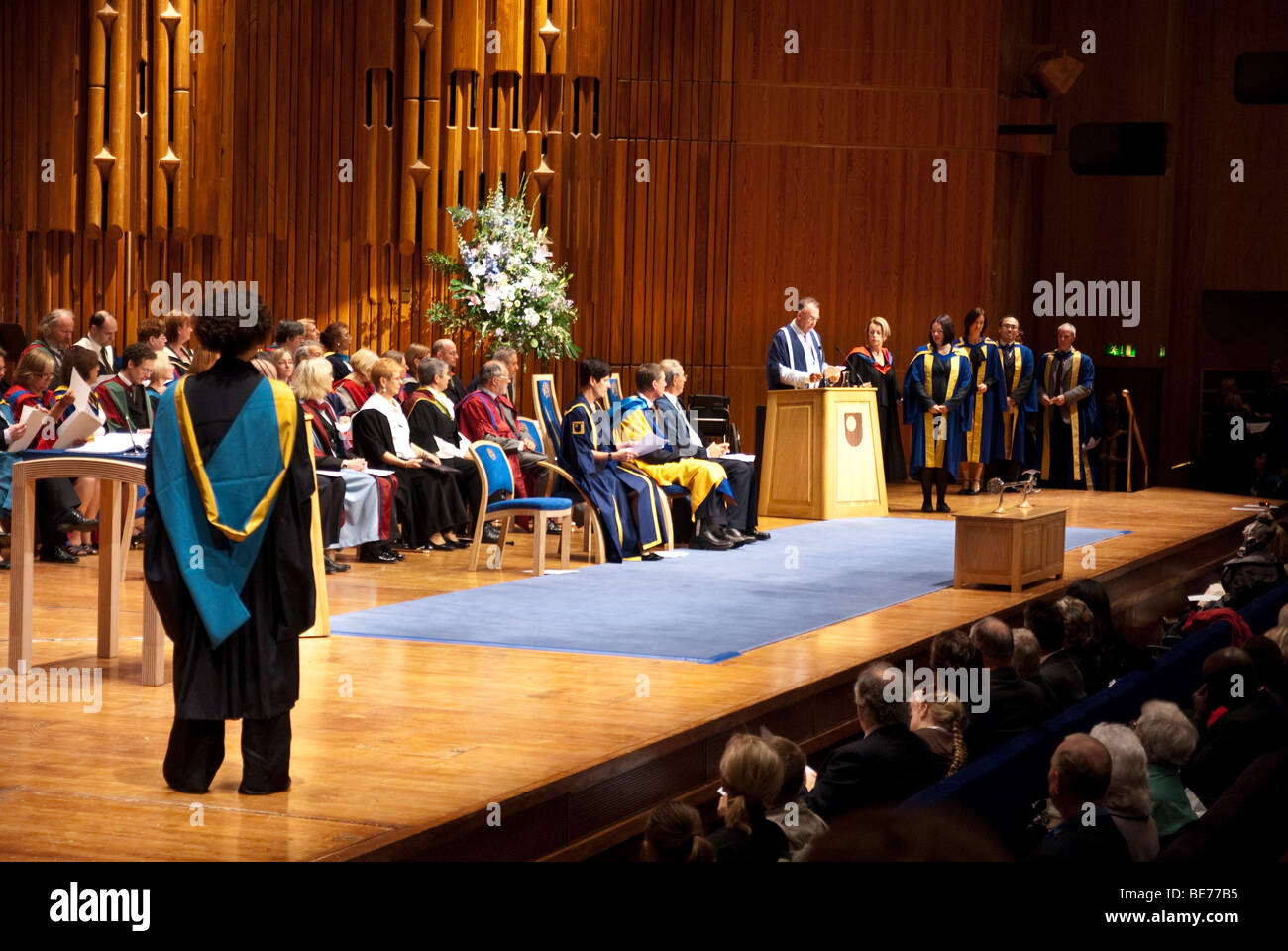 Open University Degree Ceremony at the Barbican Centre London on 18 September 2009 - Stock Image