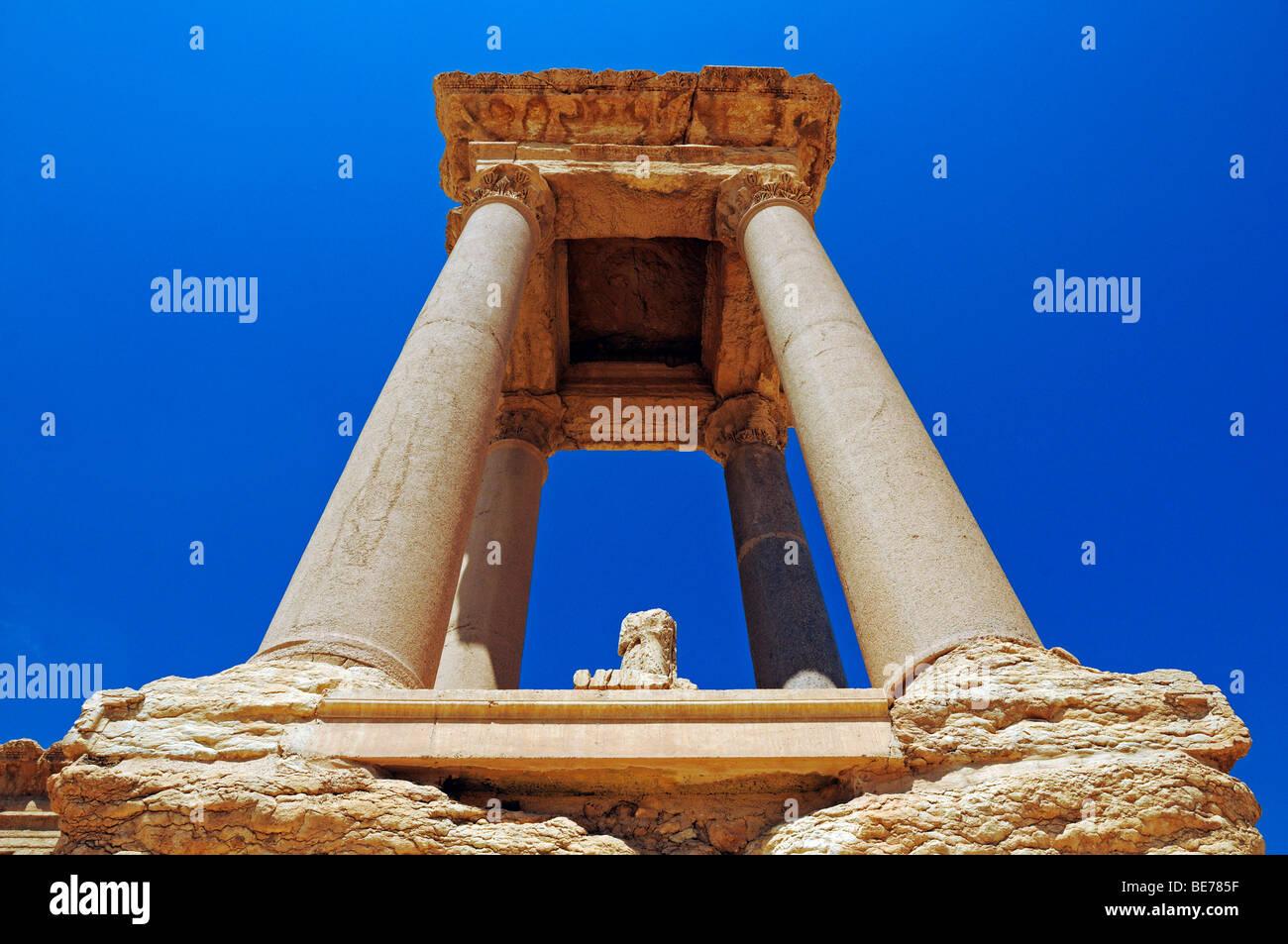 Pylon in the tetra pylon at the excavation site of Palmyra, Tadmur, Syria, Asia - Stock Image