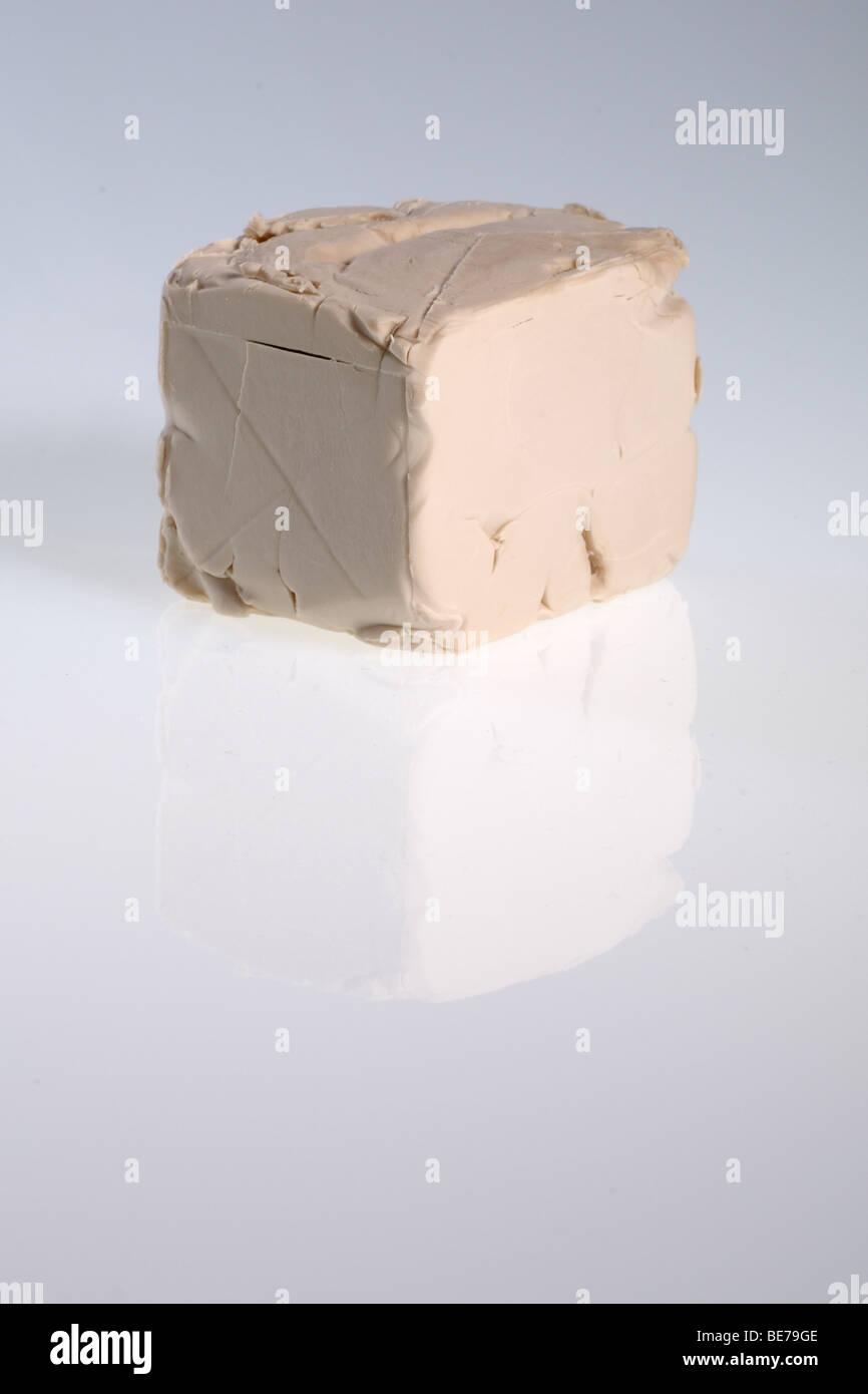 Closeup of an yeast bar - Stock Image