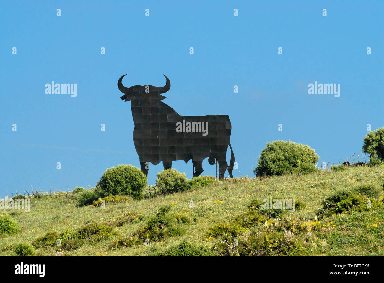 Osborne bull, Toro de Osborne, near Cadiz, Andalusia, Spain, Europe - Stock Image