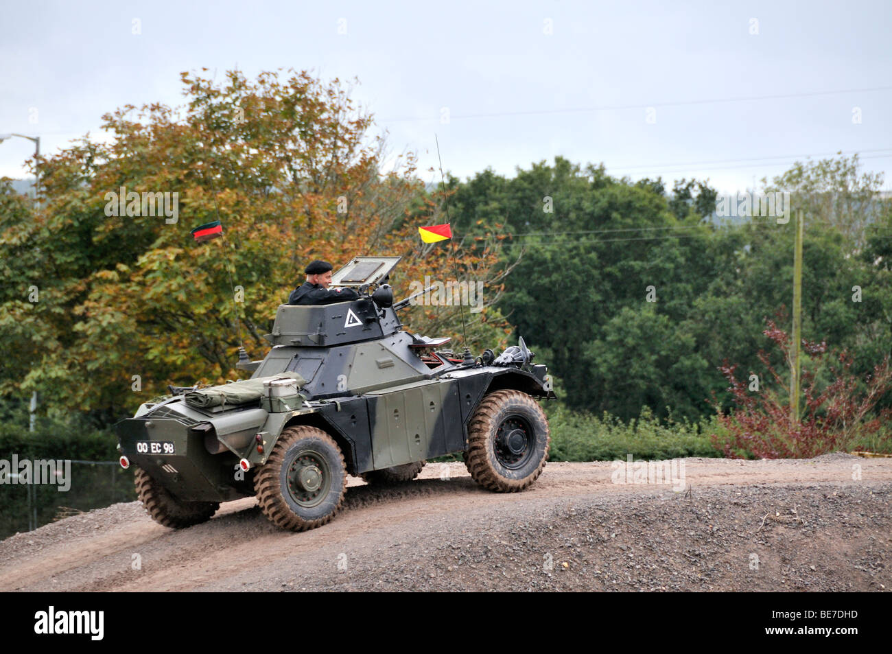 British military Ferret Scout armoured vehicle - Stock Image