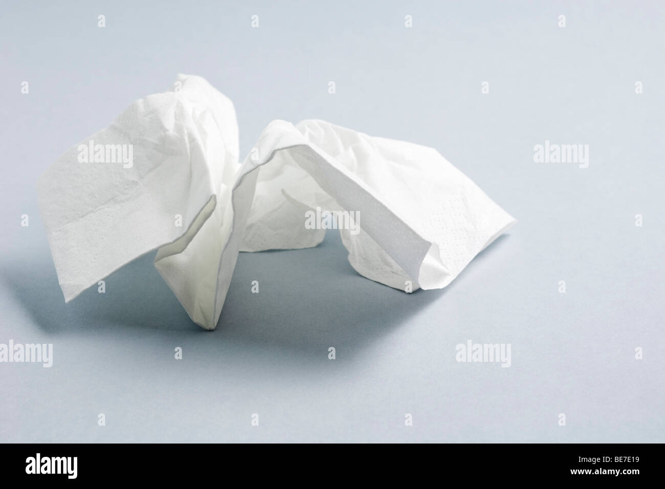 Used facial tissue - Stock Image