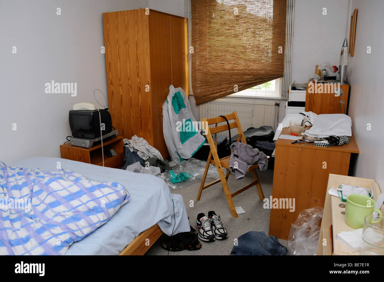 Untidy Cluttered Bedroom In Disarray Messy Bed Boys Room