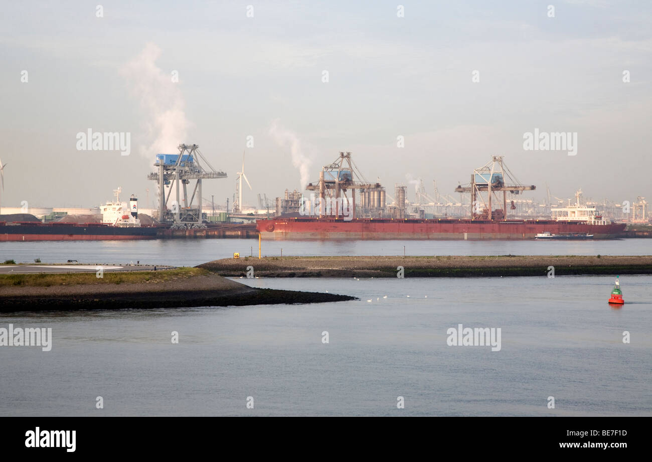 Heavy industry, Port of Rotterdam, Holland - Stock Image