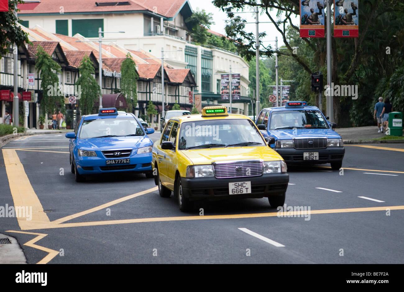 Taxi cab, Singapore, Southeast Asia - Stock Image