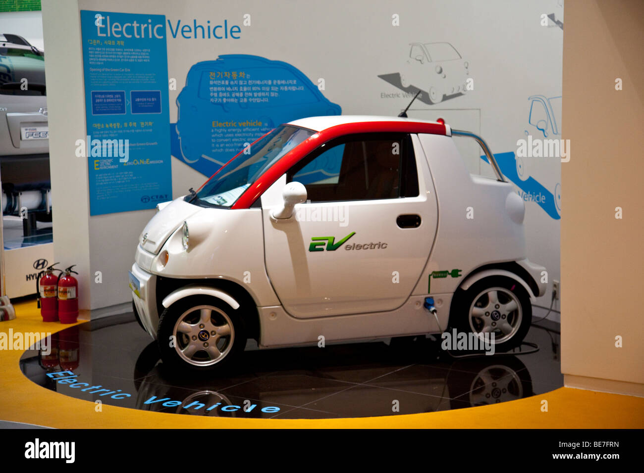 EV or Electric Vehicle on display in Seoul South Korea - Stock Image