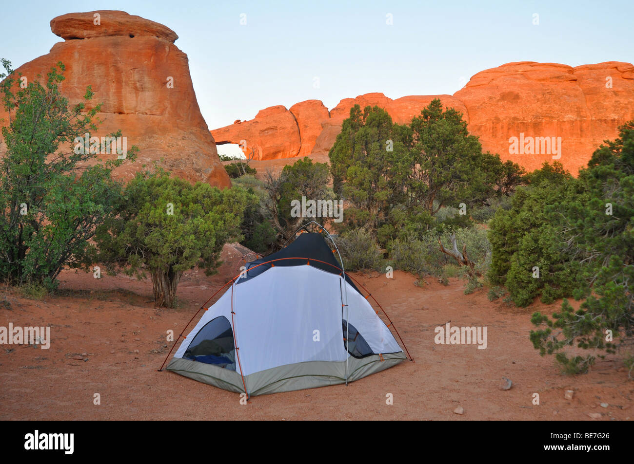 Camping Arches National Park Stock Photos Camping Arches National