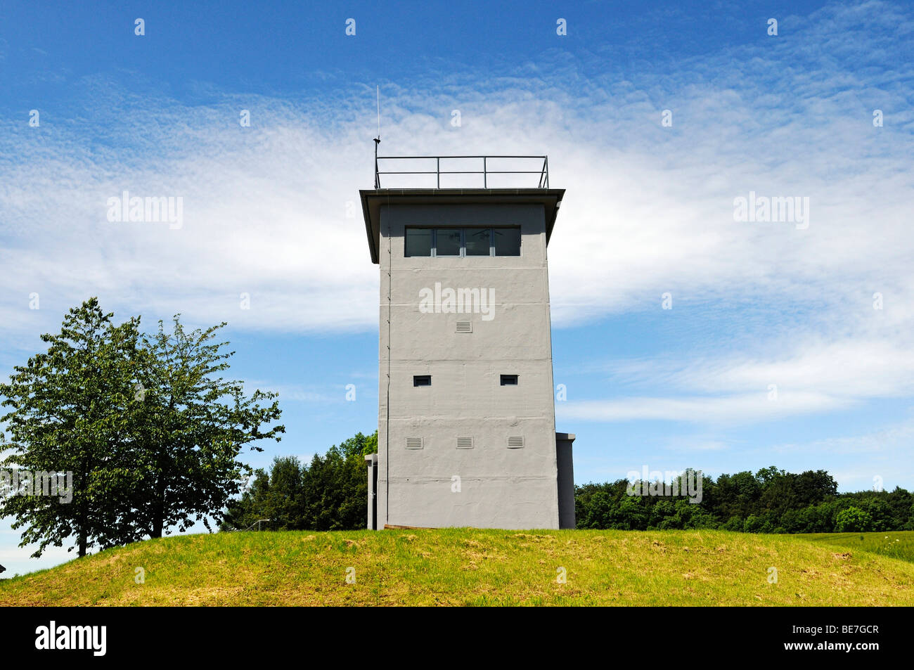 Museum and memorial in the border tower Katharinenberg at the former inner-German border, Thuringia, Germany, Europe - Stock Image