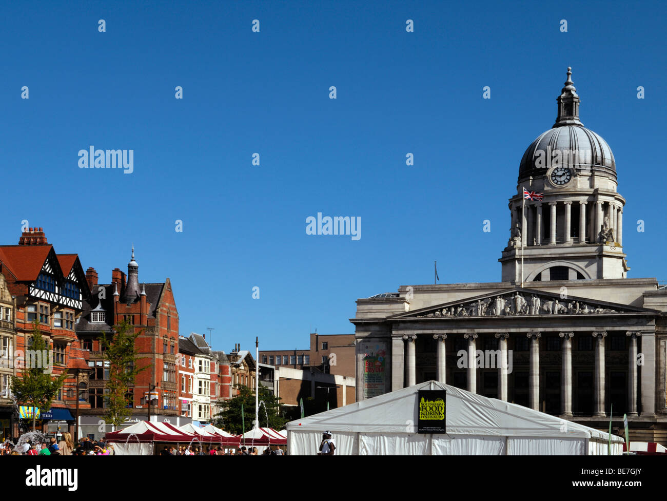 The Town Hall that houses the Galleries of Justice in Market Square, Nottingham, England - Stock Image
