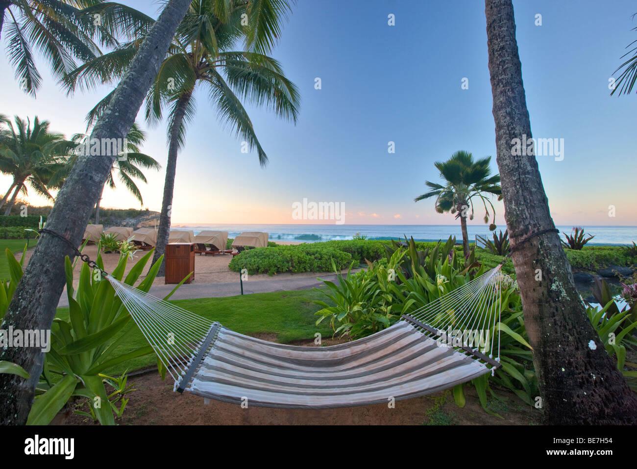 Hammock at Grand Hyatt, Kauai, Hawaii. - Stock Image