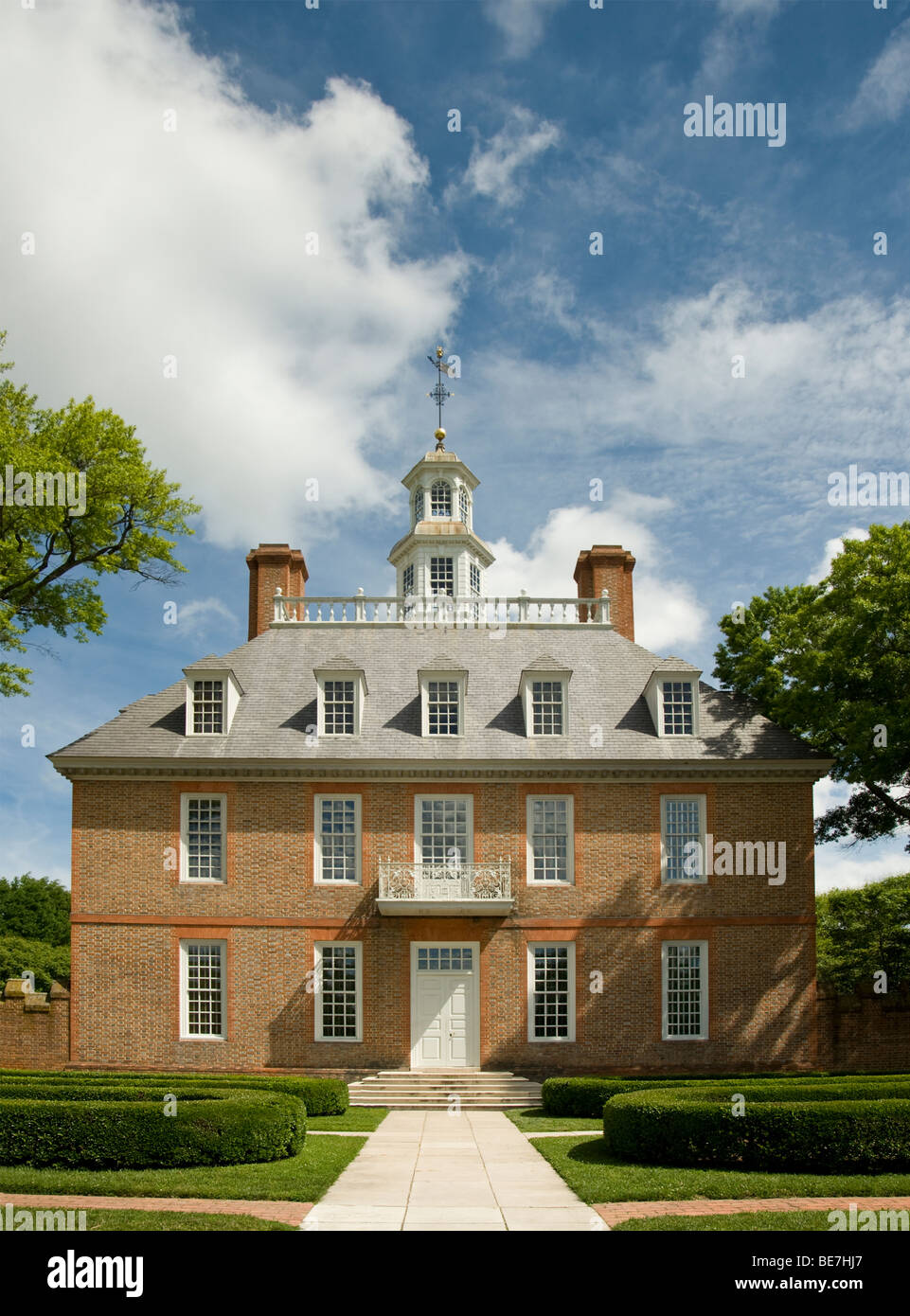 Governor's Palace, Colonial Williamsburg Stock Photo