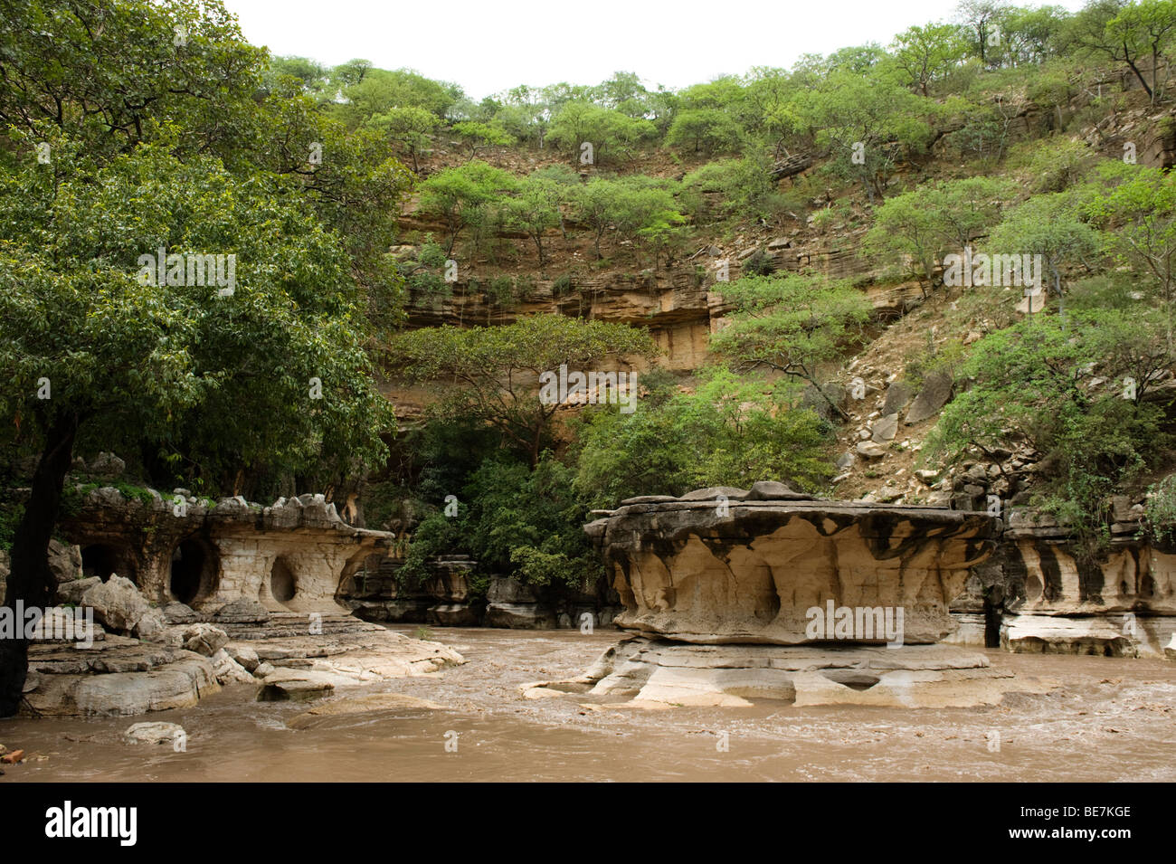 entrance to Sof Omar Cave, Ethiopia - Stock Image