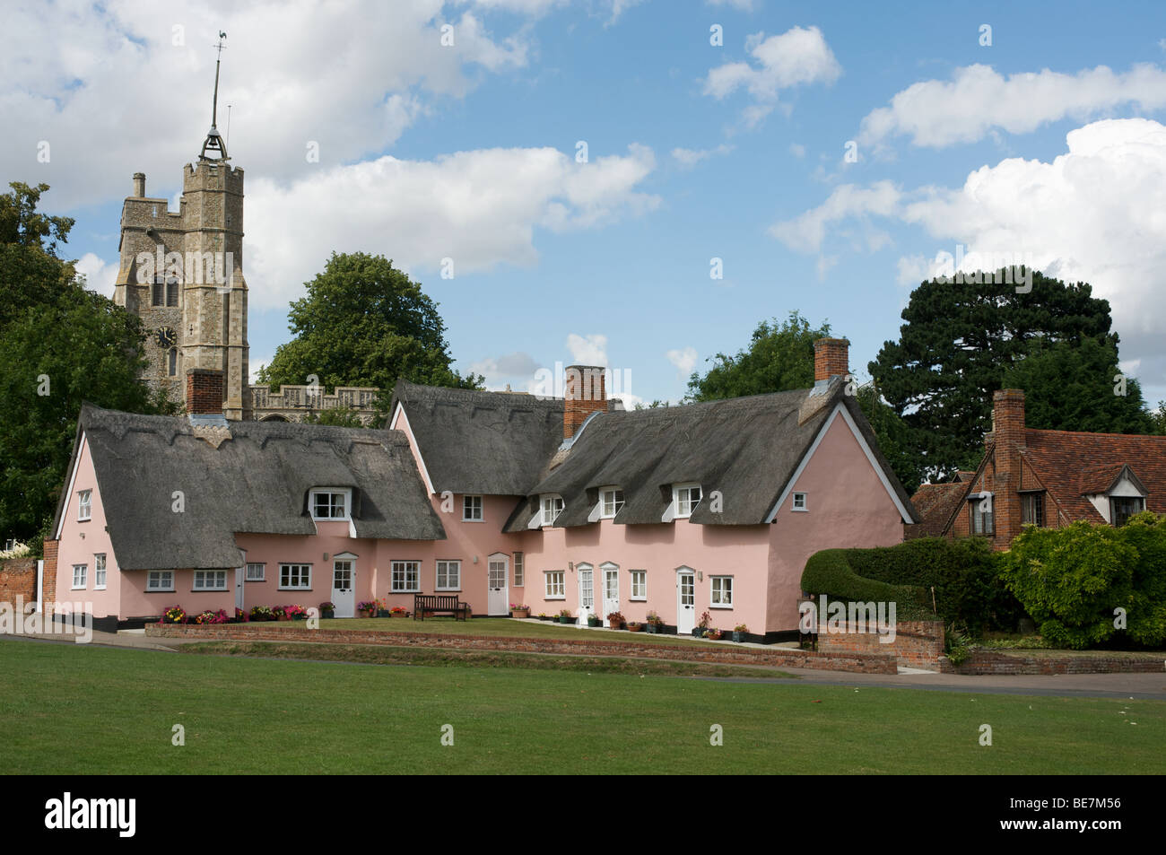 The village of Cavendish, Suffolk, UK. - Stock Image
