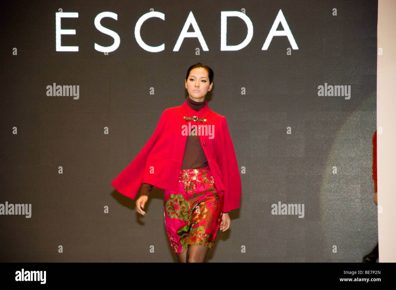 Shenzhen, China - Fashion Week in Mix City. Asian models present newest autumn collection. - Stock Image