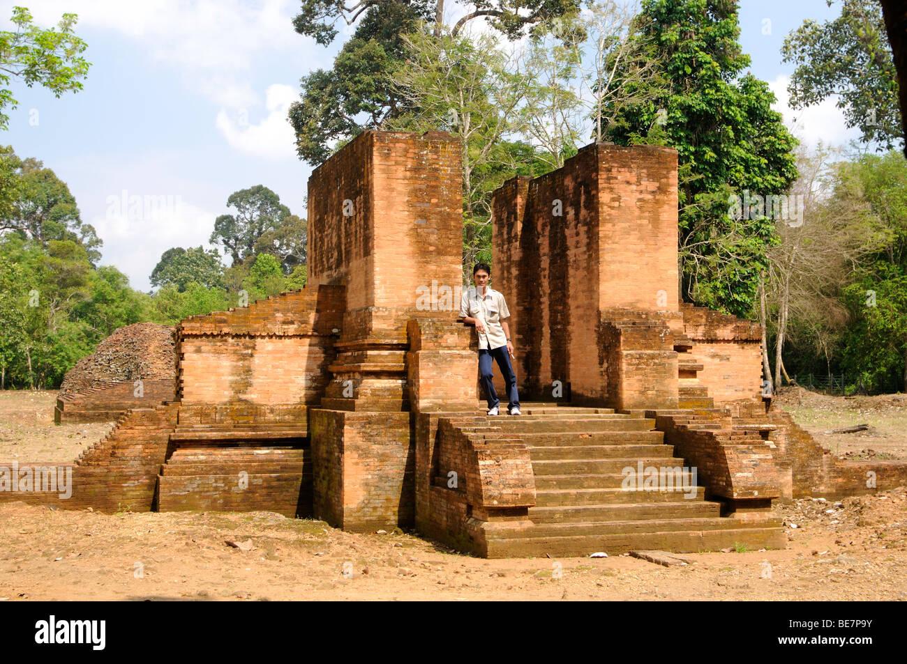 candi gedung, muara jambi, jambi sumatra indonesia Stock Photo