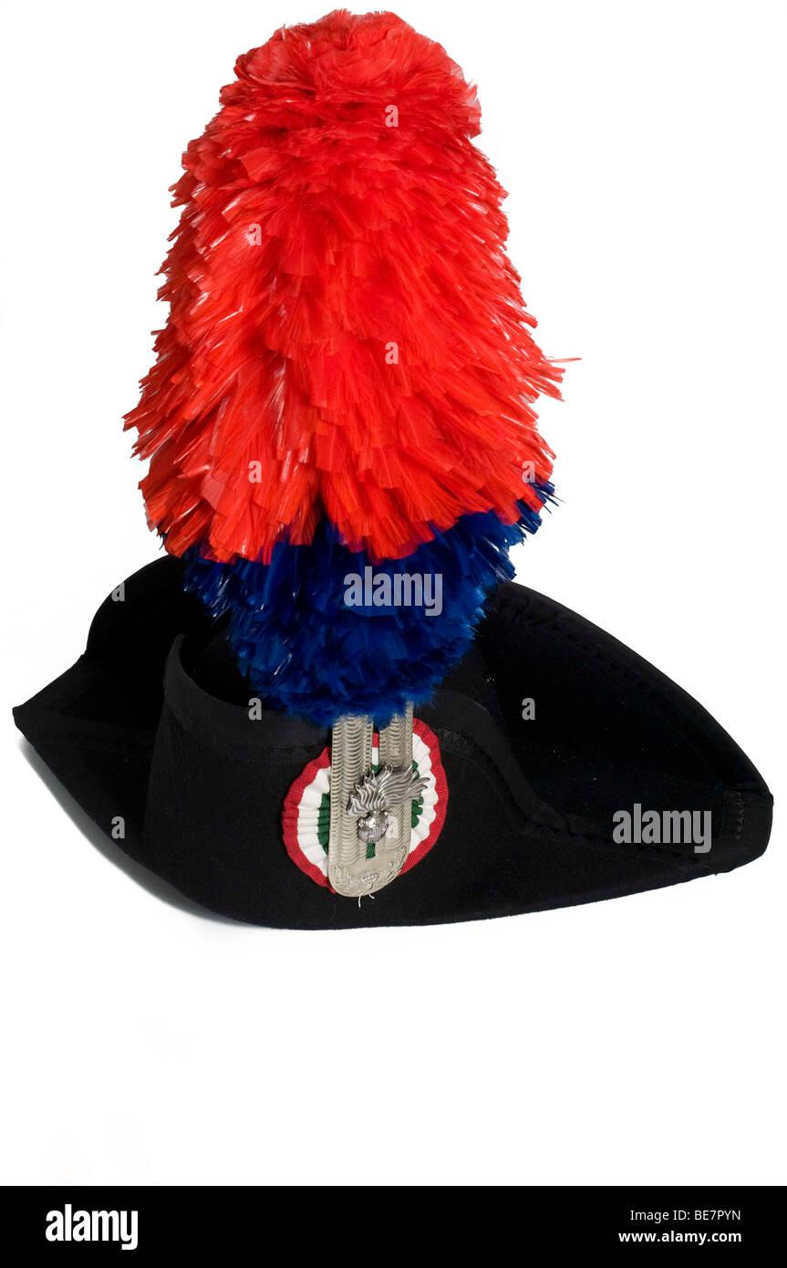 Carabinieri's uniform hat - Stock Image