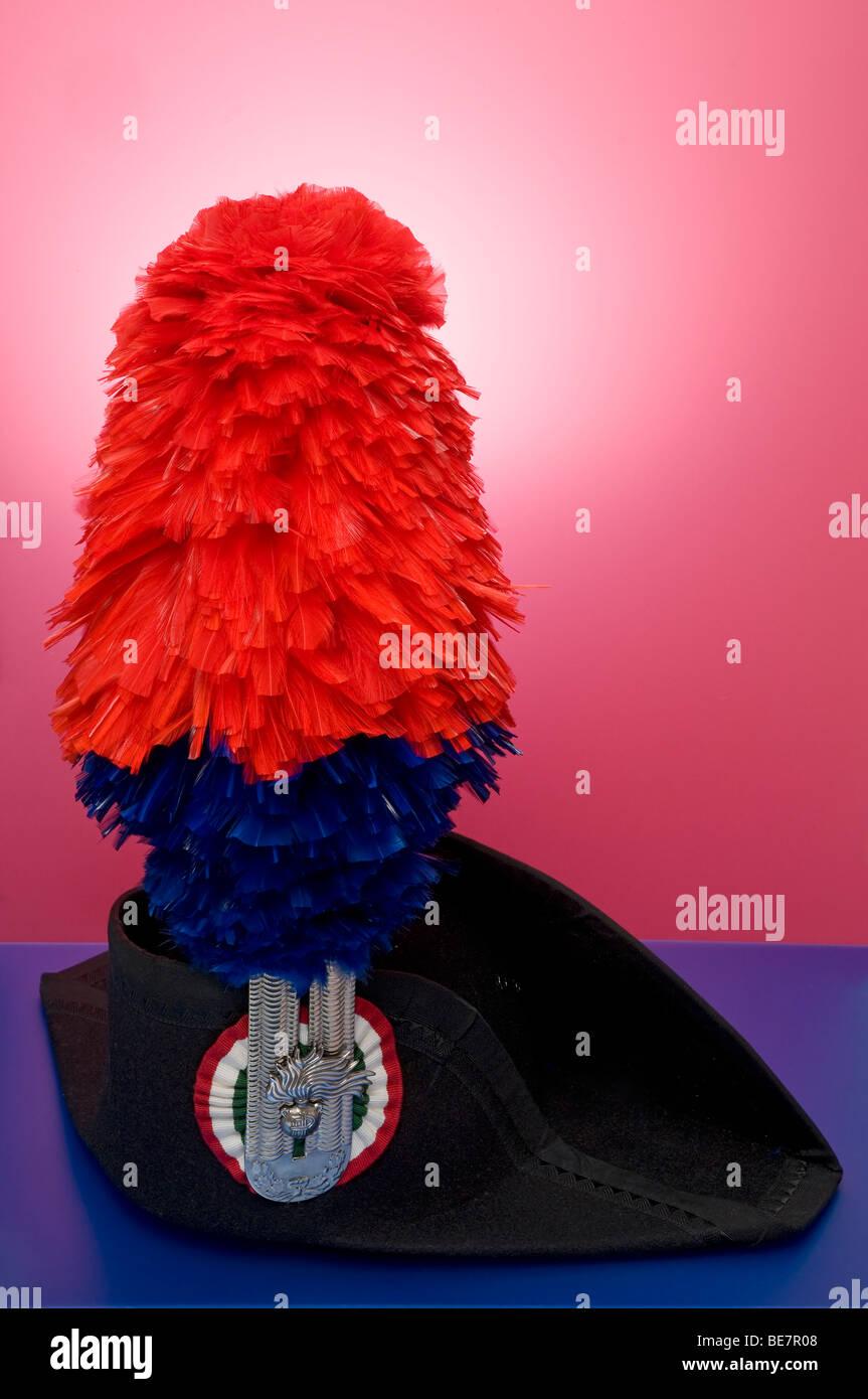 Carabinieri's cerimony hat - Stock Image