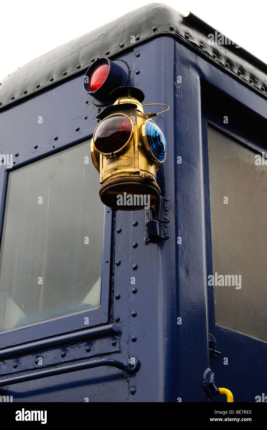 Old colorful railroad lantern, Lehigh Gorge Scenic Railway