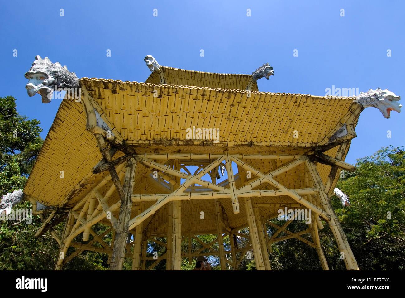 Chinese pagoda inside Tijuca National Forest Park, Rio de Janeiro, Brazil Stock Photo