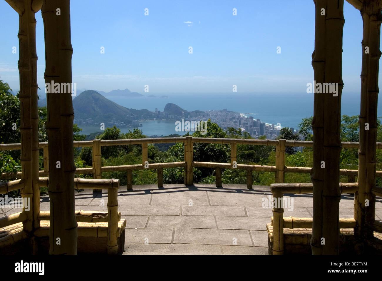 City view from Chinese Pagoda, Rio de Janeiro, Brazil Stock Photo
