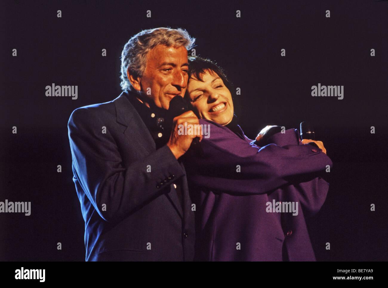 TONY BENNETT duets with Liza Miinnelli - Stock Image