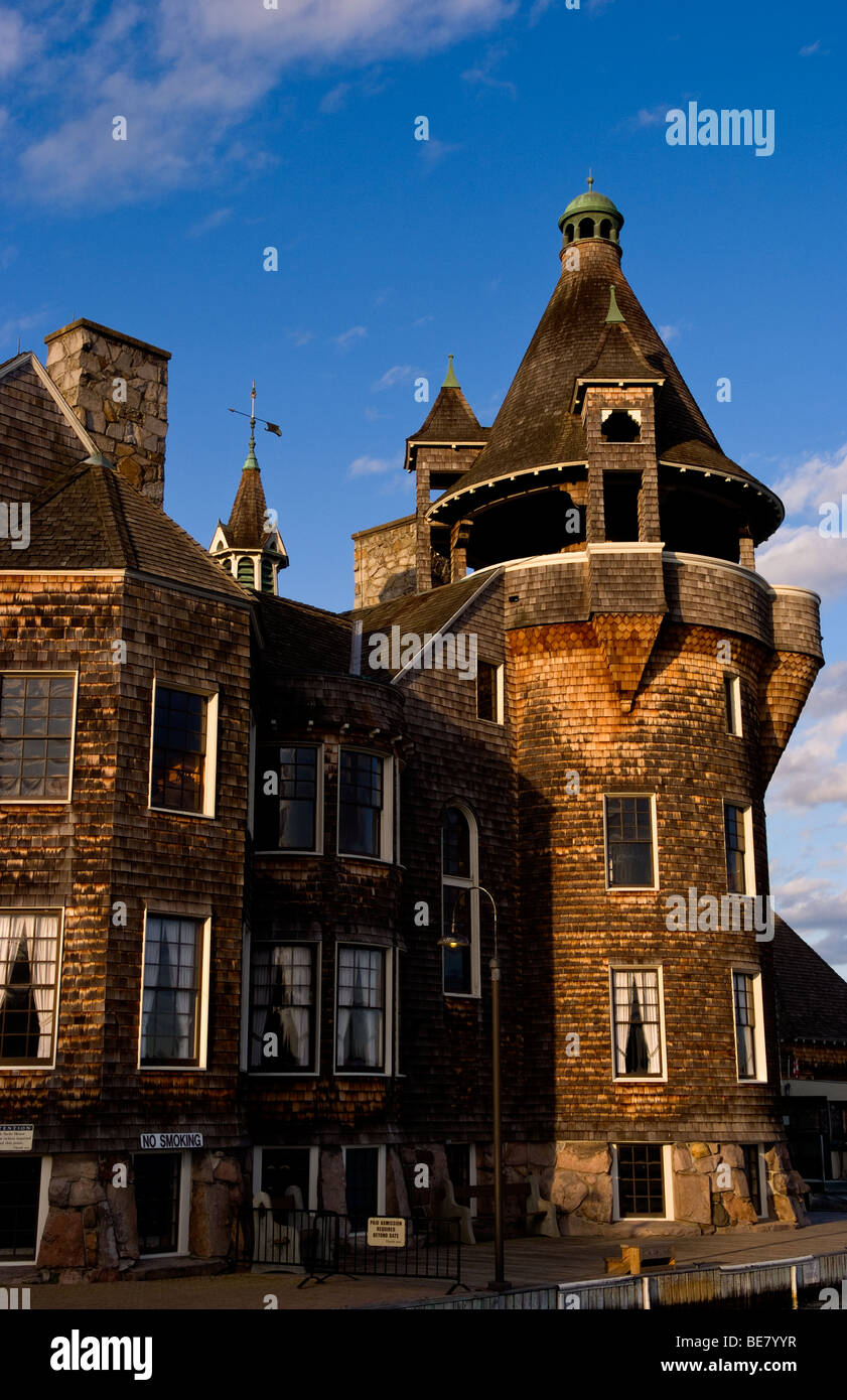 Famous Bolot Castle on Wellesley Island in the Thousand Islands in Upstate New York on Canada border - Stock Image