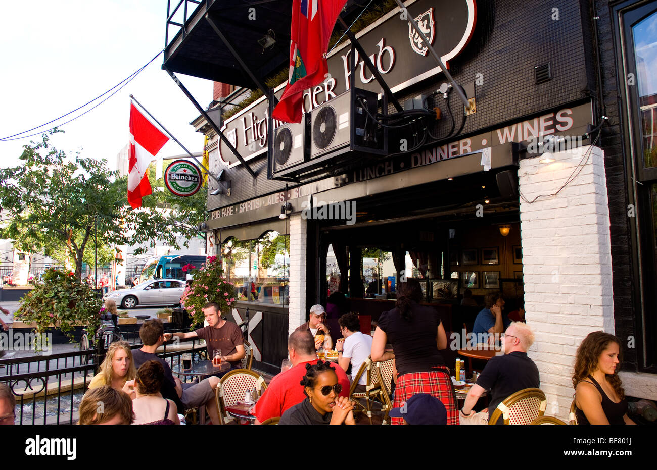 The Highlander Pub Scottish Bar on Rideau Street in Ottawa Ontario Canada - Stock Image