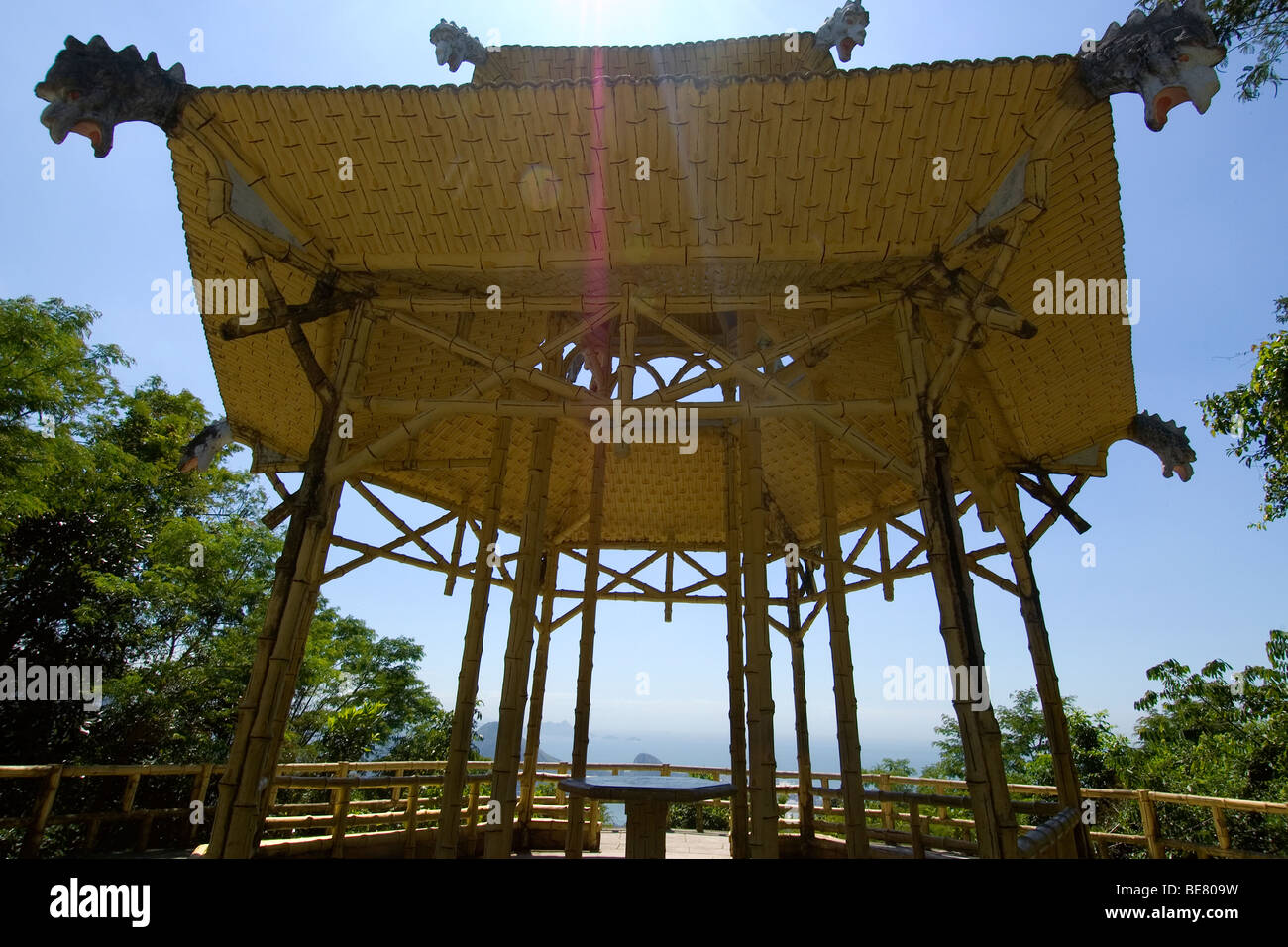Chinese pagoda inside the Tijuca National Forest Park, Rio de Janeiro, Brazil Stock Photo