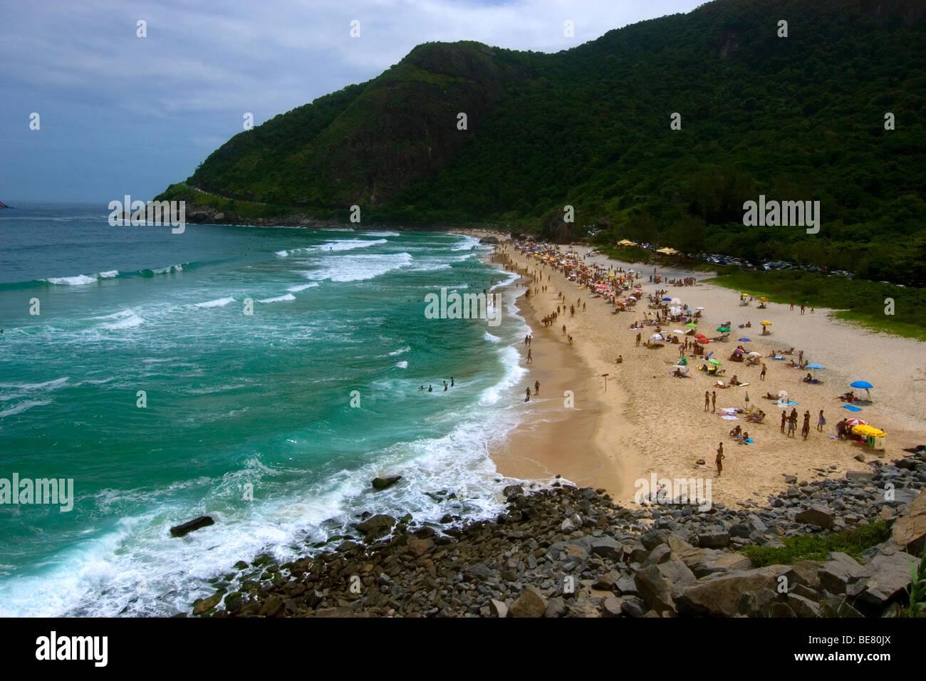 Prainha beach, Rio de Janeiro, Brazil - Stock Image