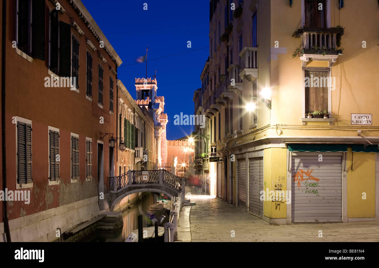 Arsenale, former wharf of Venice, in 16th century the largest wharf in the world, Campo S. Martin, Venice, Italy, - Stock Image